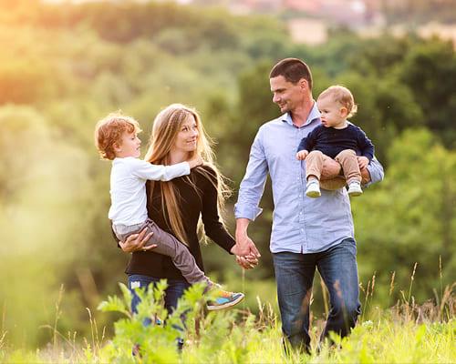 Семья, родственники, близкие люди на немецком языке