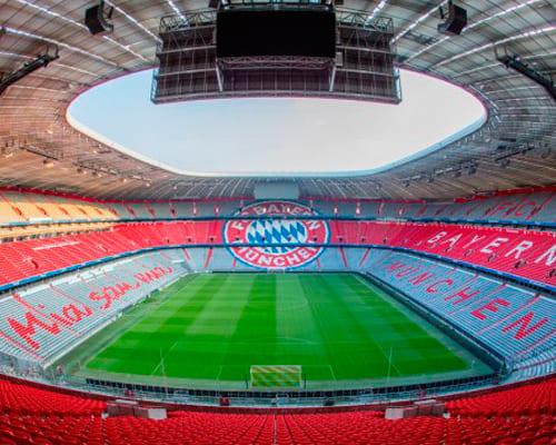 Футбольный стадион Баварии в Германии
