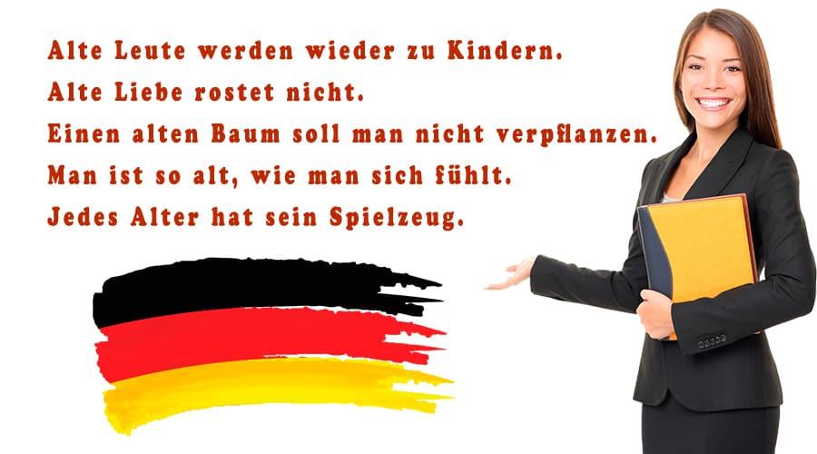 Фразеологизмы в немецком языке